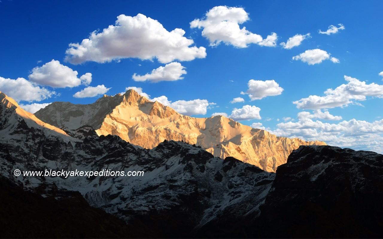 Mt.Kanchenjunga as seen from Dzongri Trek view point