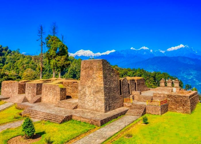 Rabdentse ruins beautiful himalaya view